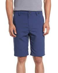 Hurley | Blue 'sentry' Dri-fit Shorts for Men | Lyst