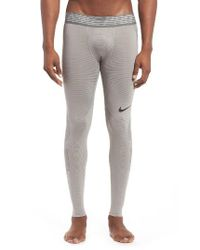 Nike - Gray Hypercool Training Tights for Men - Lyst