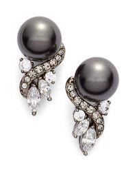 Nadri | Multicolor 'pearl Essence' Cubic Zirconia Stud Earrings | Lyst