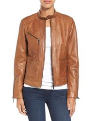 Bernardo | Brown Kirwin Leather Jacket | Lyst
