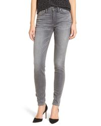 Madewell   Gray High Rise Skinny Jeans   Lyst