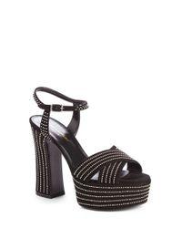 Saint Laurent Black Studded Candies Platform Sandals