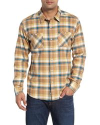 Quiksilver | Multicolor 'red Eye' Herringbone Plaid Flannel Shirt for Men | Lyst
