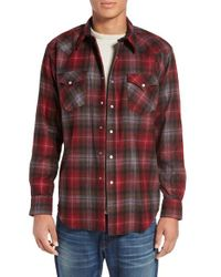 Pendleton | Red 'canyon' Plaid Flannel Western Shirt for Men | Lyst