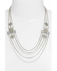 Konstantino | Metallic 'penelope' Multistrand Collar Necklace | Lyst