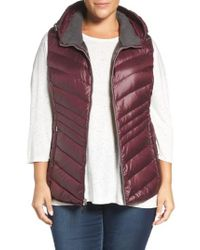 Andrew Marc | Multicolor Hooded Down Vest | Lyst