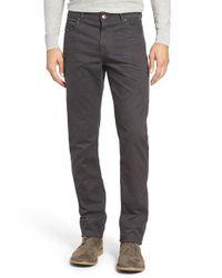 Bugatchi | Gray Mini Check Five-pocket Pants for Men | Lyst