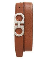 Ferragamo | Brown Reversible Leather Belt | Lyst