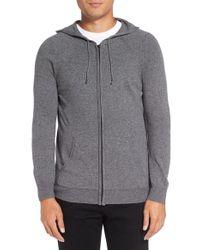 Michael Stars | Gray Zip Front Wool Blend Hoodie for Men | Lyst