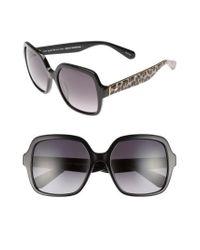 Kate Spade   Black 'katels' 54mm Sunglasses   Lyst