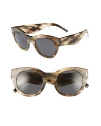 9eaf272b5829 Lyst - Burberry 49mm Retro Sunglasses in Gray
