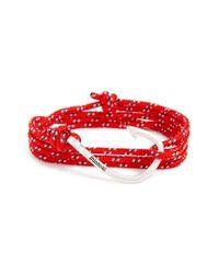 Miansai | Red Hook & Rope Wrap Bracelet | Lyst