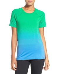 Brooks - Green 'streaker' Short Sleeve Tee - Lyst