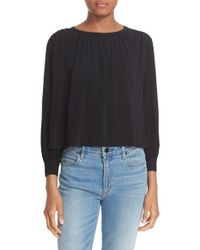 Elizabeth and James - Black Long Sleeve Crop Top - Lyst