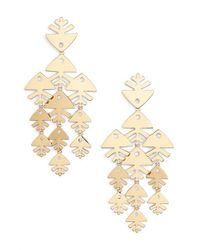 Tory Burch | Metallic Metal Fish Chandelier Earrings | Lyst