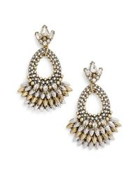 BaubleBar | Metallic Tille Crystal Drop Earrings | Lyst