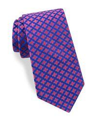 Ted Baker - Blue Floral Silk Tie for Men - Lyst