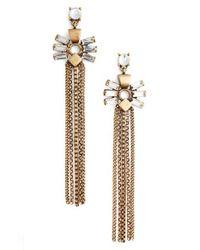 Treasure & Bond | Metallic Fringe Earrings | Lyst