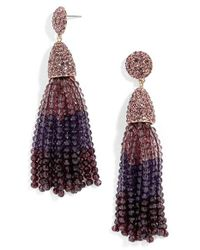 BaubleBar | Purple 'nynette' Tassel Drop Earrings | Lyst
