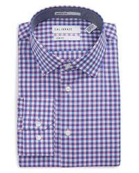 Calibrate - Purple Trim Fit Check Dress Shirt for Men - Lyst
