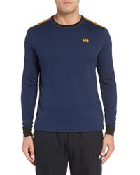 Helly Hansen | Blue 'active Flow' Base Layer Long Sleeve T-shirt for Men | Lyst