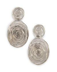 Gas Bijoux | Metallic 'wave' Double Drop Earrings | Lyst