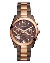 Fossil | Multicolor 'perfect Boyfriend' Multifunction Bracelet Watch | Lyst