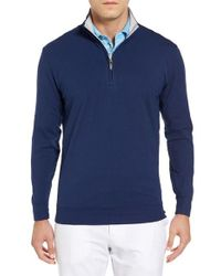 Bobby Jones | Blue Pto Liquid Stretch Quarter Zip Pullover for Men | Lyst