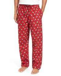 Polo Ralph Lauren - Red Dog Print Lounge Pants for Men - Lyst