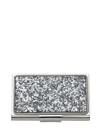 kate spade new york | Glitter Business Card Holder - Metallic | Lyst