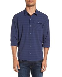 Travis Mathew - Blue 'evatt' Stripe Sport Shirt for Men - Lyst