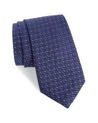 Calibrate | Blue Railroad Stripe Silk Tie for Men | Lyst