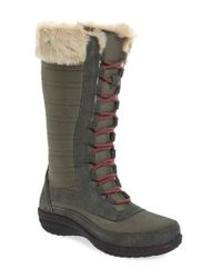 Aetrex   Gray Waterproof Lace-up Boot   Lyst