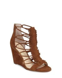 Jessica Simpson | Brown 'beccy' Wedge Sandal | Lyst