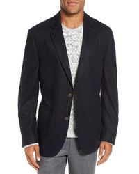Flynt | Blue Regular Fit Wool Blend Knit Sport Coat for Men | Lyst