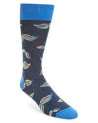 Bugatchi | Blue Movember Cotton Blend Socks for Men | Lyst