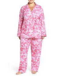 Lauren by Ralph Lauren - Pink Jersey Pajamas - Lyst