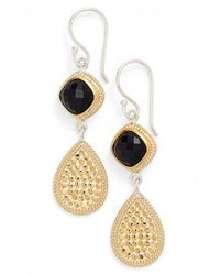 Anna Beck | Metallic Onyx Double Drop Earrings | Lyst