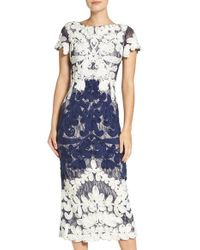 JS Collections | Blue Soutache Lace Midi Dress | Lyst