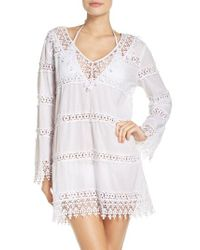 Tory Burch | White Crochet Lace Cover-up Dress | Lyst