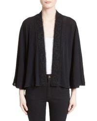 Fuzzi - Black Kimono Cardigan - Lyst
