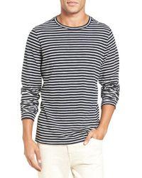 VINCE   Multicolor Long Sleeve Stripe T-shirt for Men   Lyst