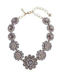 Oscar de la Renta | Black Swarovski Crystal Collar Necklace | Lyst