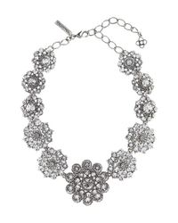 Oscar de la Renta | Metallic Swarovski Crystal Collar Necklace | Lyst