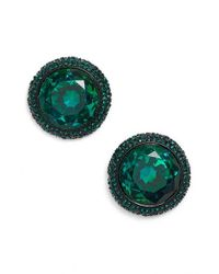 kate spade new york | Green 'absolute Sparkle' Stud Earrings | Lyst