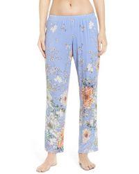 Flora Nikrooz | Blue Magnolia Pajama Pants | Lyst