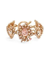 Oscar de la Renta - Multicolor Swarovski Crystal Line Bracelet - Lyst