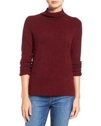Madewell | Red Rolled Turtleneck Sweater | Lyst