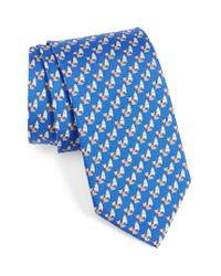 Ferragamo | Blue Windsurfing Bear Silk Tie for Men | Lyst