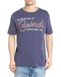 Lucky Brand | Blue Castrol Oil Graphic T-shirt for Men | Lyst